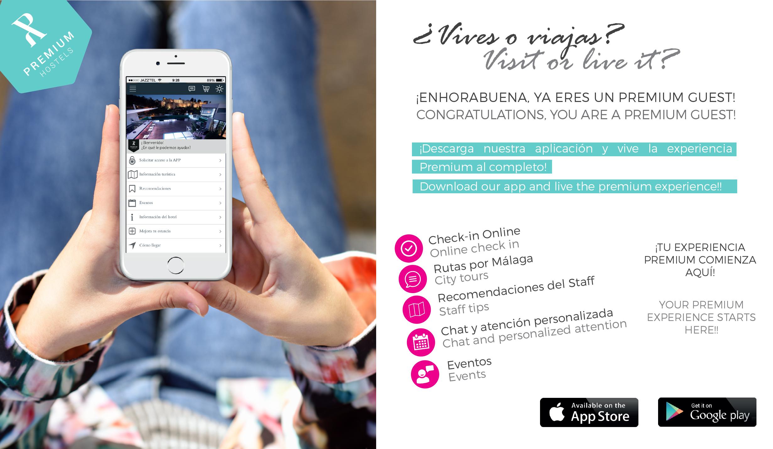 Infórmate y descarga la APP de Alcazaba Premium Hostel