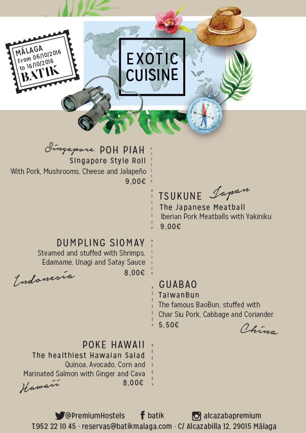 5 new exotic dishes in Batik