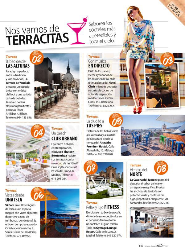 La Terraza chill-out de Alcazaba Premium Hostel aparece en Stilo como una visita obligatoria
