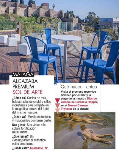 Telva recomienda la Terraza de Alcazaba Premium Hostel