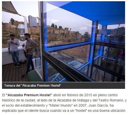 Alcazaba Premium Hostel in the article of the newspaper La Razón