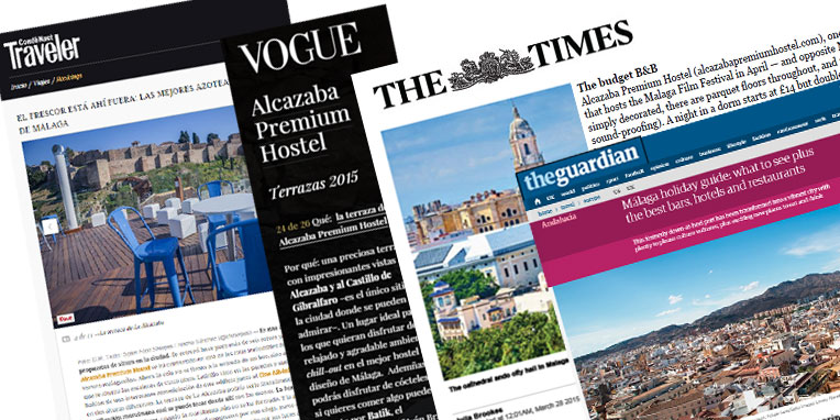Alcazaba Premium Hostel, the best hostel of Málaga in media