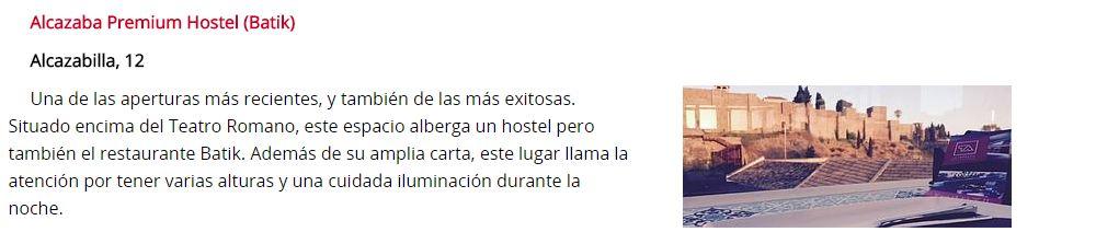 Alcazaba Premium Hostel aparece en el Diario Sur
