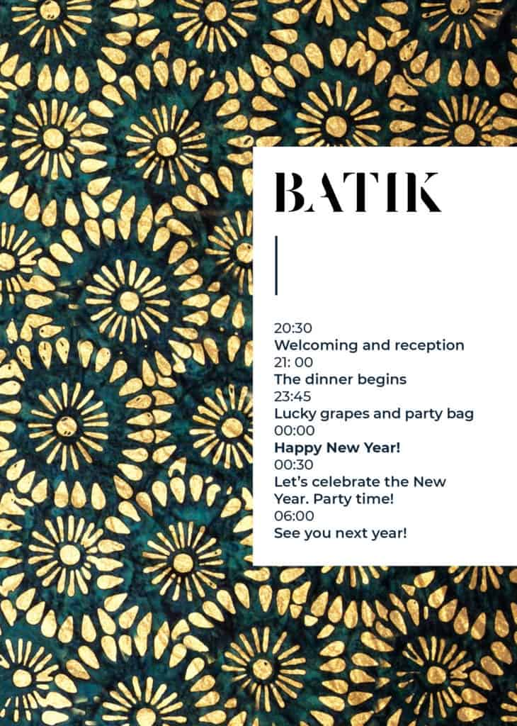 New Year's Eve 2018 in Batik